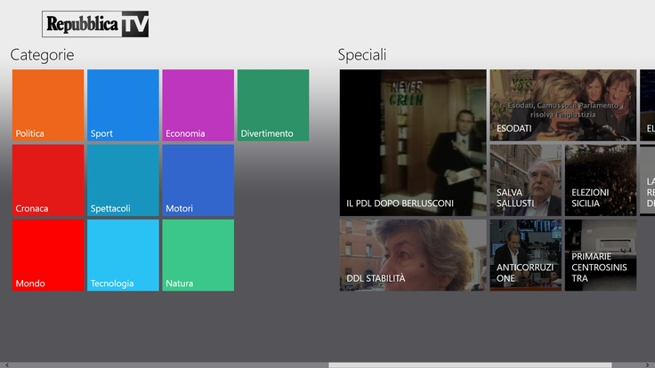 Repubblica TV su Windows 8