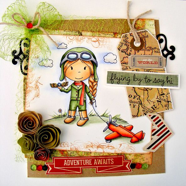 Captain Ellie   the pilot  Sells for 9.99. Last one I have can't get anymore. L@@K@example Paper Nest Dolls Rubber Stamps   Word stamps in examples are sold separately Pat's Rubber Stamps & Scrapbooks. Call me 423-357-4334 or email me patbubstilwell@gmail Free shipping with 35.00 or more on phone call order or email orders. We can send an invoice through pay pal and we don't need your account Number