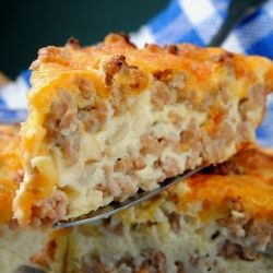 Cheeseburger Pie. Whip up this easy fun recipe for those early Super Bowl Sunday fans.