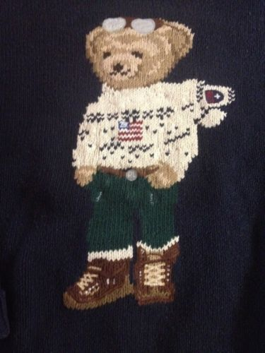 Rare Vintage Polo Sport Ralph Lauren Bear Sweater ...