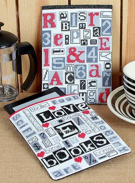 Print Blocks Cross Stitch Kit, Pack of 2