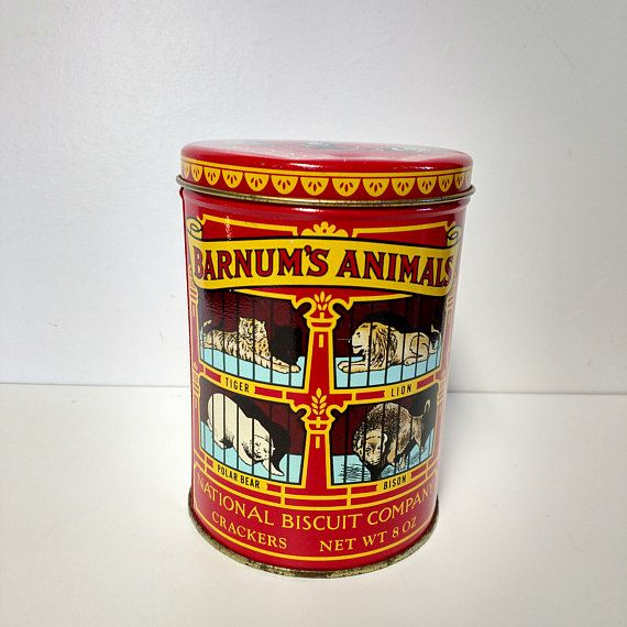 Barnum's Animal Tin Can Nabisco Biscuit Company