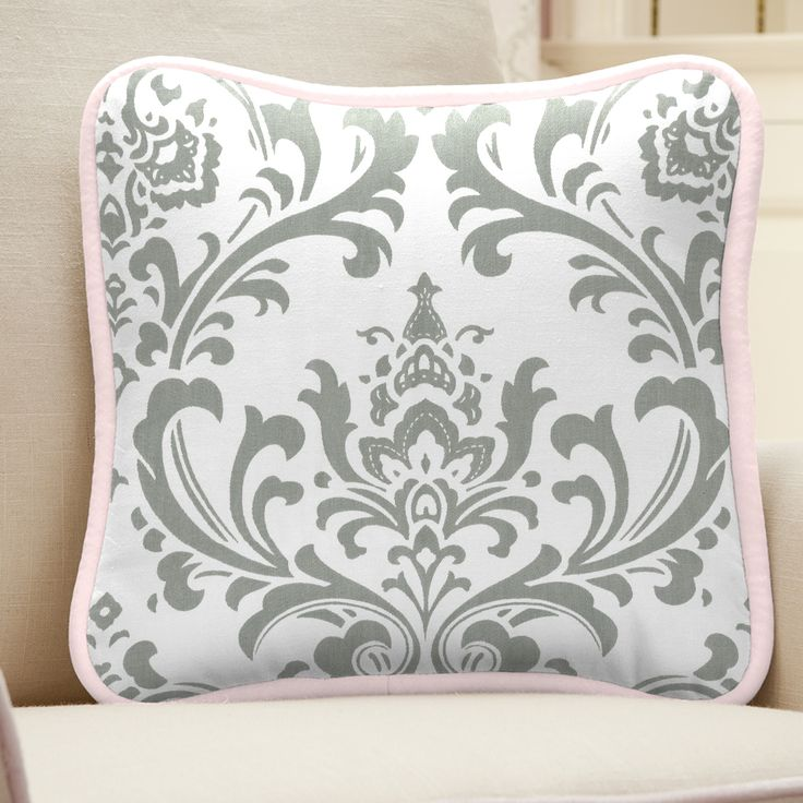 Pink and Gray Traditions Nursery Decor #carouseldesigns