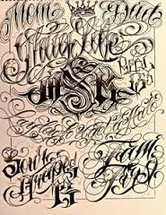 Lettering Chicano