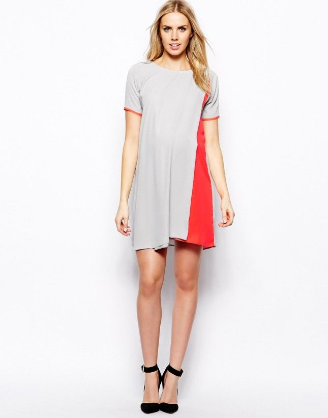 Add a pinch of neon to a simple shift dress.