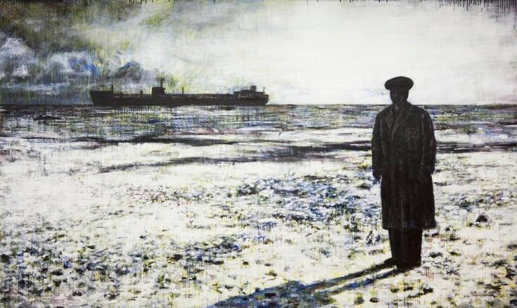Vincenzo Todaro, (un)memory #772 - At the pole, olio, acrilico e smalti su tela, 125X210, 2011
