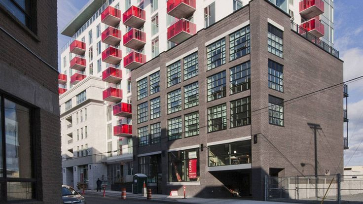 The Vic Suites, designed by Halifax-based Breakhouse with Michael Napier Architecture and Dexel Developments Ltd. The 10-storey building was built on the bones of a run-down but distinctive 19th-century apartment building at the corner of Hollis and Morris streets.