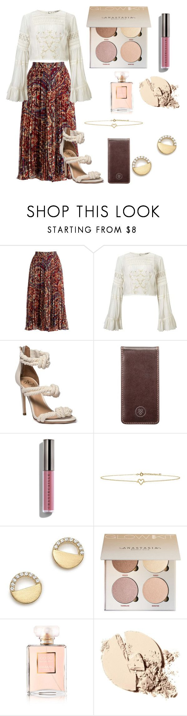 """Hippie Hopeful"" by lavendersky33 ❤ liked on Polyvore featuring Haute Hippie, Miss Selfridge, Maxwell Scott Bags, Chantecaille, Lee Renee, Bloomingdale's and Chanel"