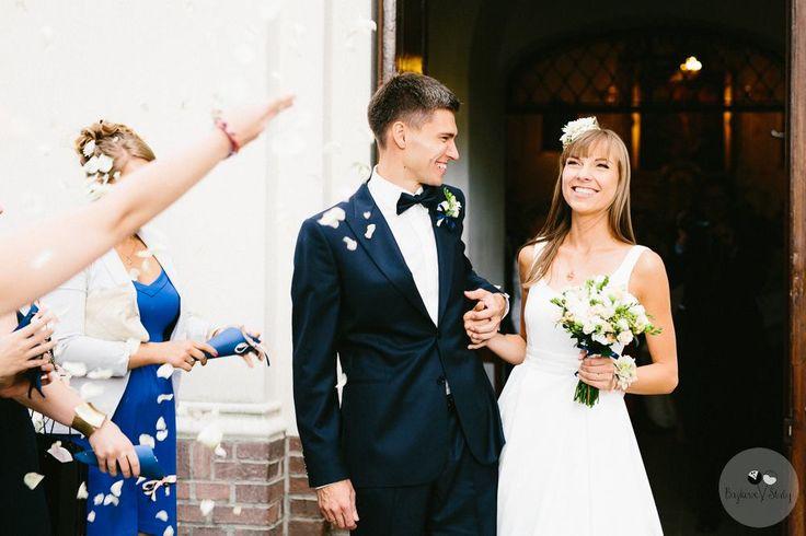 INNA Studio_ white bridal bouquet / biały bukiet ślubny / fot. Bajkowe Śluby