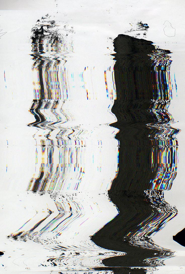 Glitch art inspiration. The black and white colours blurred out are inspirational because it creates a 'digital blur', losing sight of what is real and what isn't.