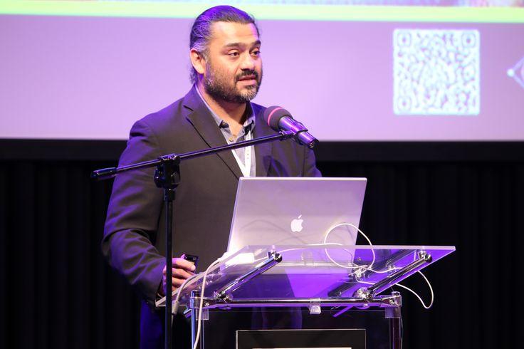 Adipat Virdi during the presentation at Filmteractive Festival