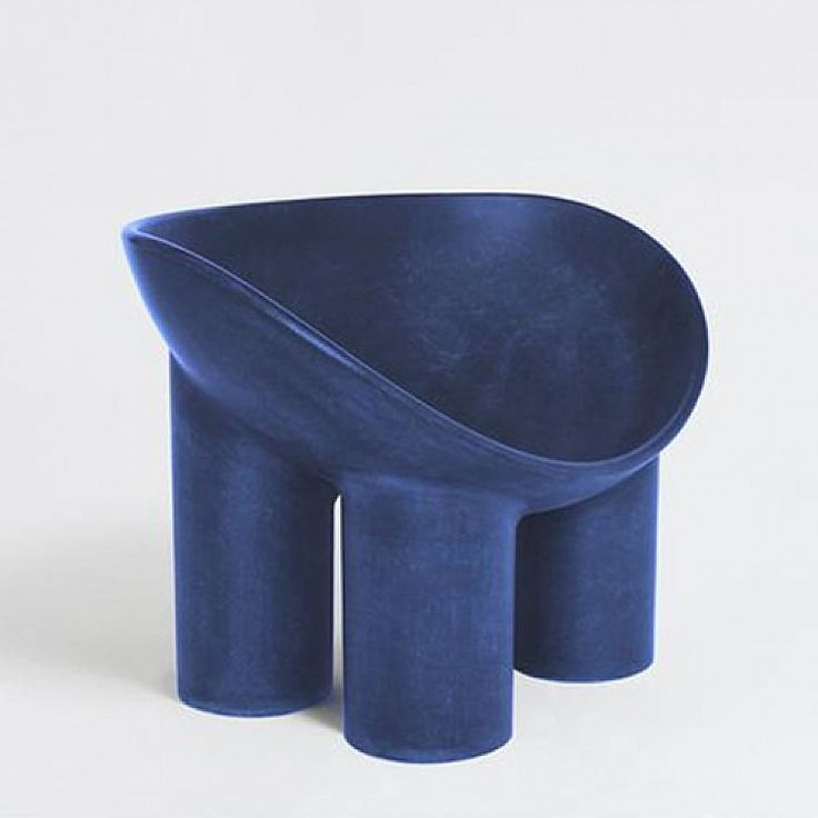 FAYE TOOGOOD ROLY POLY CHAIR, INDIGO