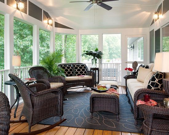 Screened In Porch Design Ideas traditional porch with screened porch exterior stone floors Open Back Porch Design Pictures Remodel Decor And Ideas Page 9