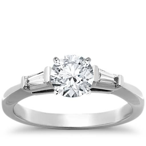 3rd pick!!! Tapered Baguette Diamond Engagement Ring in Platinum (1/6 ct. tw.)