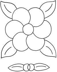 Non-traditional flower stencil