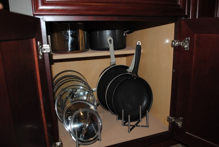 Pots And Pans Storage Ideas To Take Note Of: Pot Pot Lid Organizer I M So Happy To