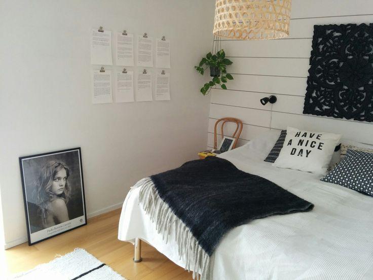 #blackandwhite #bedroom #granit