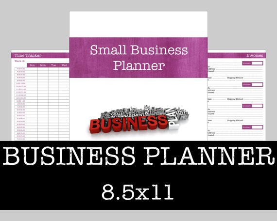 Small Business Management Planner  Brushstrokes by OnTaskOnTime