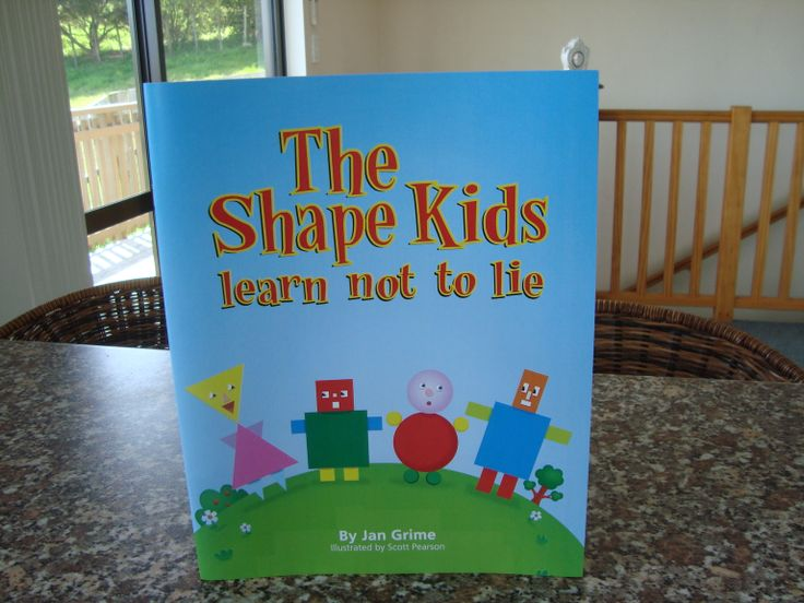 The Shape Kids Learn not to Lie, in which Steven Square gets caught out in a lie in front of his mum and the other Shape Kids and promises never to lie again, available on Amazon Kindle or paperback from www.theshapekids.com