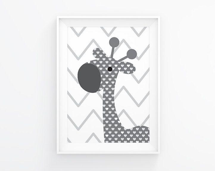 Gender neutral Nursery art Giraffe nursery by aTypeOfInspiration