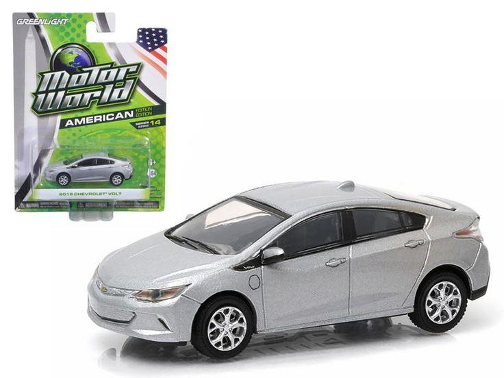 2016 Chevrolet Volt Silver 1/64 Diecast Model Car by Greenlight