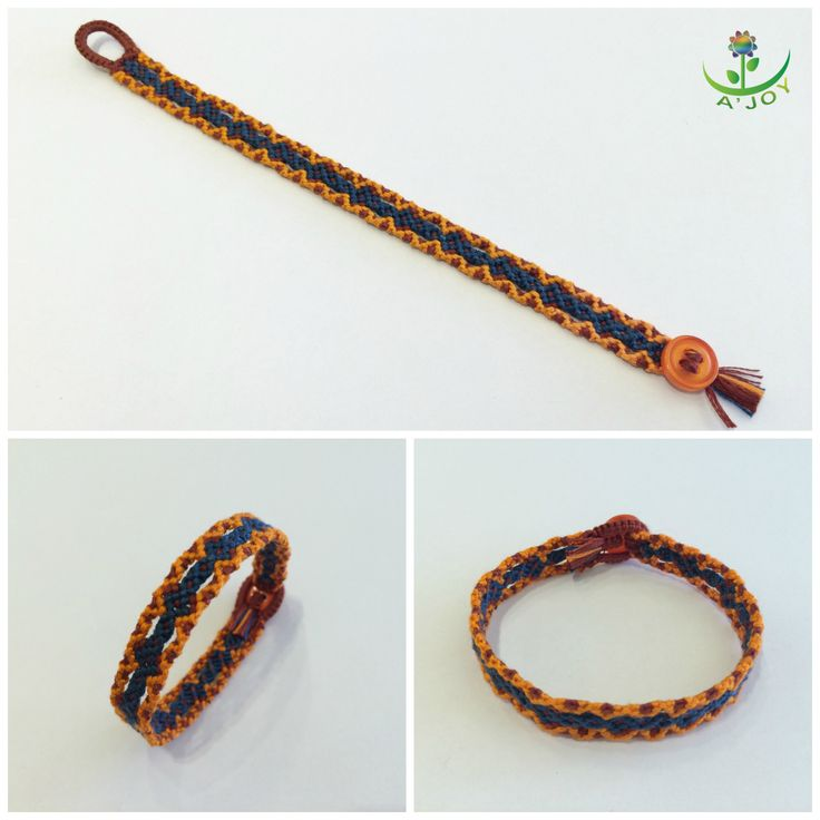 Friendship Bracelet FB00022 (Strings : 10, Colours : 3, Rows : 12)