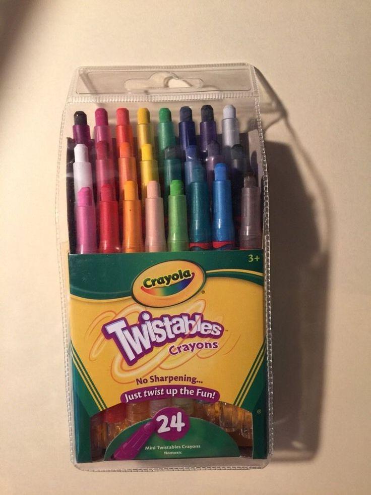 Crayola Nontoxic Mini Twistables Crayons Pack of 24 NEW #Crayola