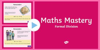 Division Algorithm Maths Mastery PowerPoint