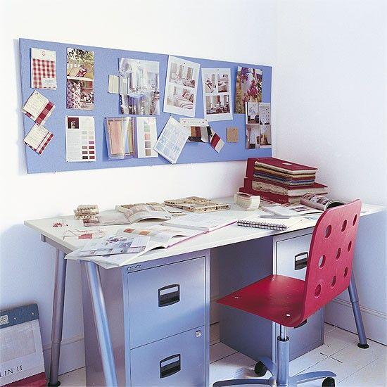 Purple home office | Office furniture | Decorating ideas | Image | Housetohome