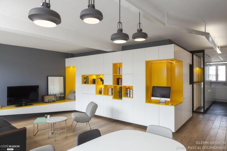 Rénovation appartement des années 70, Paris, Agence Glenn Medioni - architecte d'intérieur