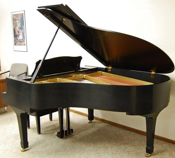 Zsold yamaha c3 grand piano satin ebony pianos for Yamaha black baby grand piano