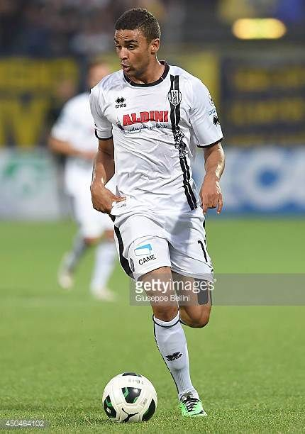Andrè Gregoire Defrel of Cesena in action during the Serie B playoff match between Modena FC and AC Cesena at Alberto Braglia Stadium on June 8 2014...
