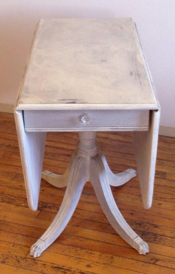 Vintage Drop Leaf Pedestal Table