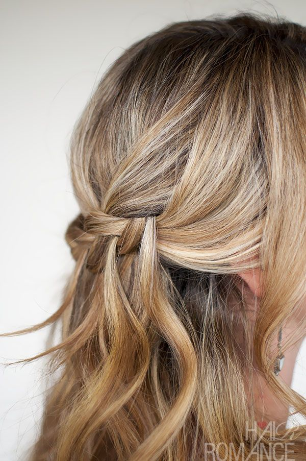 Hair Romance - Waterfall Plait - braid style
