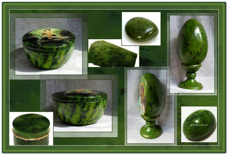 Мои работы с имитацией нефрита и натуральные камни.
