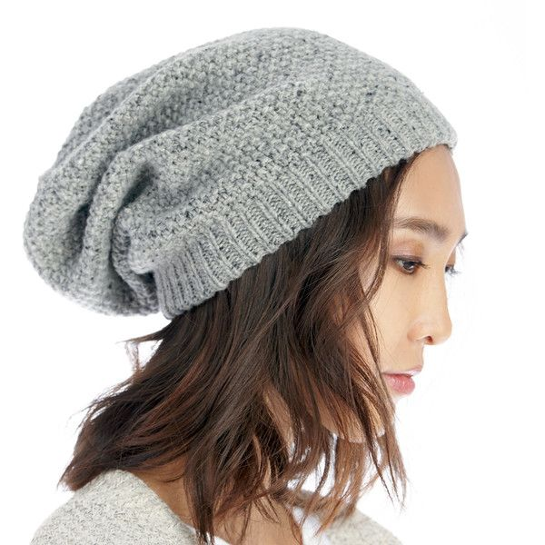 Sole Society Slouchy Wool Beanie found on Polyvore featuring polyvore, women's fashion, accessories, hats, grey flannel, gray beanie hat, beanie hat, grey slouch beanie, gray slouchy beanie and slouchy beanie hat