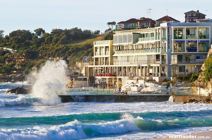 Bondi is one of the rare Australian East Coast beaches that face south - most face east.