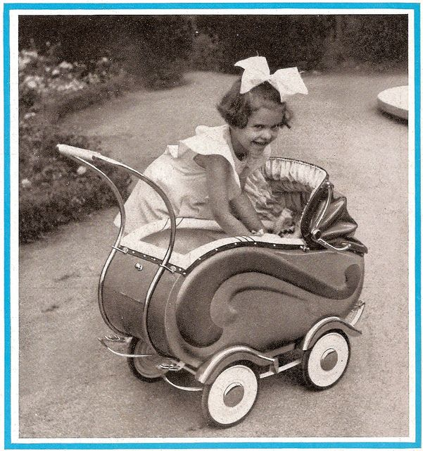 1950 Hasa Puppenwagen by diepuppenstubensammlerin, via Flickr. I had an all white buggy almost just like this when I was a little girl. My family lived in Germany for 2 years. I still have it!