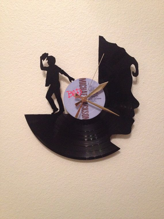 Michael Jackson Record Wall Clock by High5Design on Etsy, $35.00