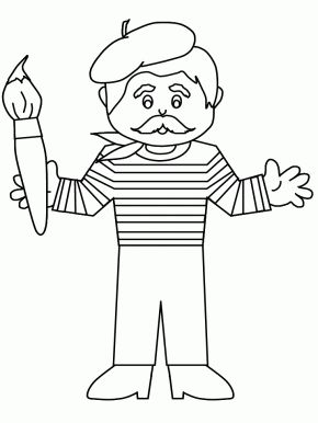 Beretboy2 France Coloring Pages
