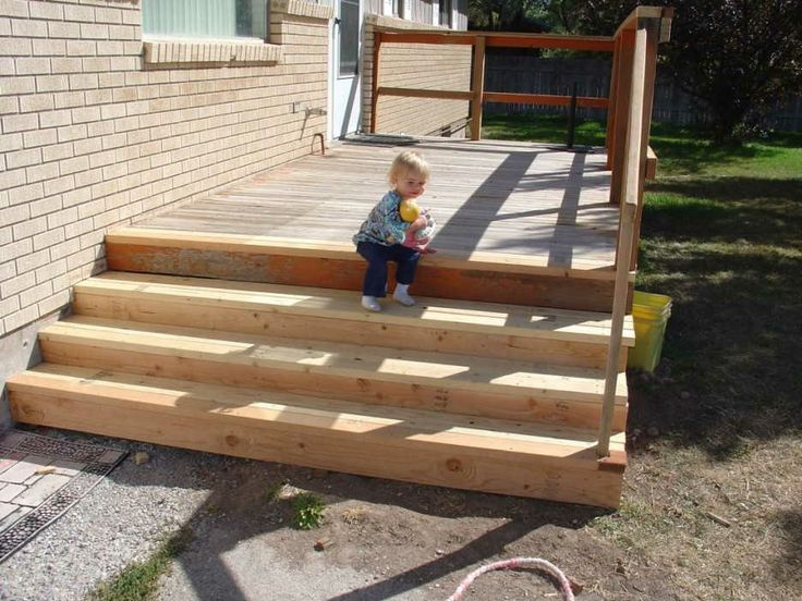 Photo Of Small Deck With Long Steps For The Home Pinterest