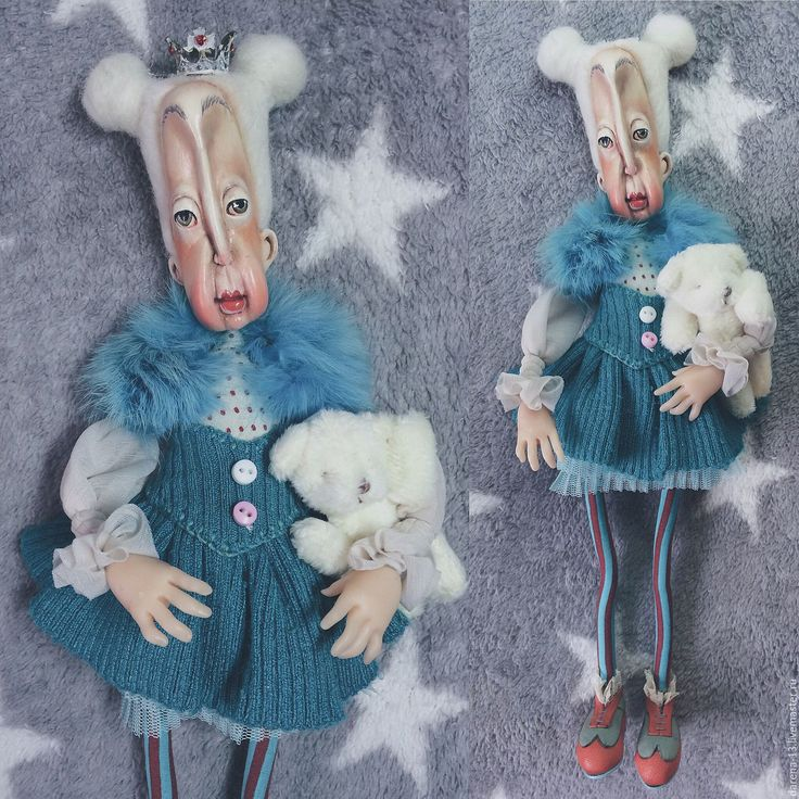 Купить Бабушка Миша ( Мишель) - тёмно-бирюзовый, кукла ручной работы, кукла в подарок