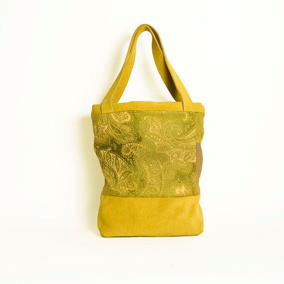 lime yellow green suede bag by elenavandelli on Etsy,