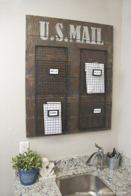 Wall Mounted Mail Organizer…from scrap wood! | Make It and Love It | Bloglovin'