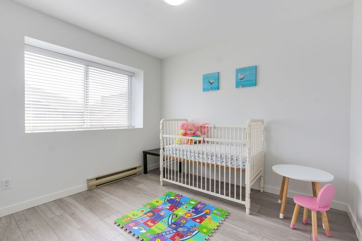 White kids bedroom. White nursery.