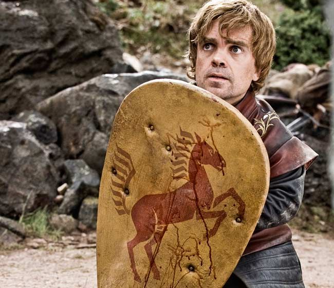 "HBO's smash series Game of Thrones is filled with breakout stars, but none bigger than Peter Dinklage. Ironic as it may be that the show's biggest star measures in at a mere 4' 5"", Dinklage was born to play Tyrion Lannister, the conniving dwarf who is a central piece of writer George R. R. Martin's complex"