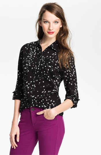 Vince Camuto Bird Print Blouse 113