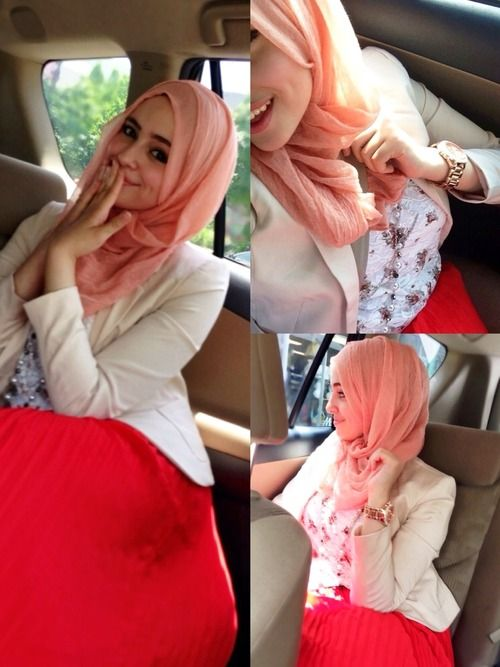 ♥ Muslimah fashion  hijab style. Love the bright colors:)