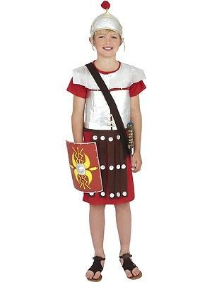 Boys Roman Soldier Costume Gladiator World Book Day Week Fancy Dress Outfit