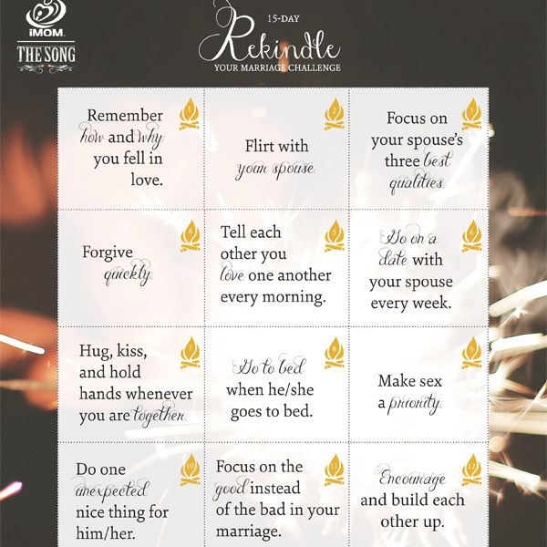 Even the best marriages can need rekindling. Does you need to rekindle your marriage? Take the 14 day rekindle your marriage challenge.